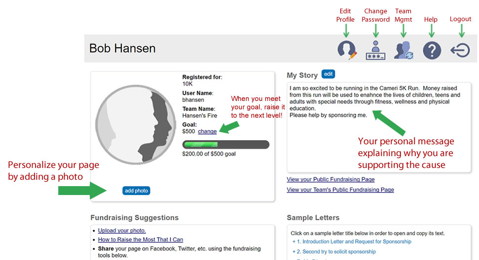 How to Set-up Your Personal Fundraising Page